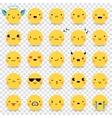 Emoticons Transparent Set vector image