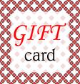 Frame gift card vector image