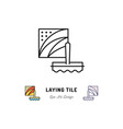 laying tile icon repair bathroom symbol spatula vector image