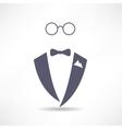 man in tuxedo icon vector image