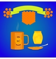tea with honey vector image