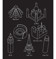 set architectural landmarks vector image