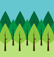 Seamless green trees vector image