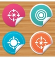 Crosshair icons Target aim signs symbols vector image