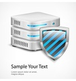 Database protection concept vector image