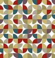 Old mosaic seamless background retro style design vector image vector image