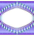 background frame with pendants made of precious st vector image vector image