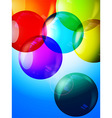 Colorful bubbles 3D background vector image vector image