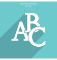 abc icon vector image