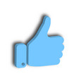 blue hand with thumb up gesture of like agree vector image