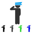 child officer flat icon vector image