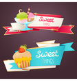 Delicious set of glittering and sparkling banners vector image