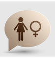 Female sign Brown gradient icon on vector image