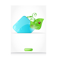 Green Leaves ladybugs icon vector image