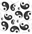 Yin yang symbol  seamless pattern vector image