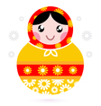 wooden Russian doll vector image