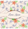 Background with banner and vintage flowers vector image vector image