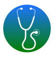 stethoscope sign white icon vector image