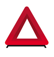 security triangle vector image vector image
