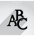 abc icon vector image