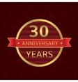 30 years anniversary vector image