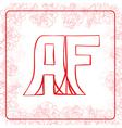 AF monogram vector image