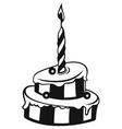 Birthday cake vector image