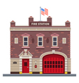 Building of fire station vector image
