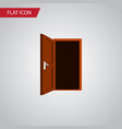 isolated frame flat icon approach element vector image