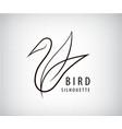 line bird logo pigeon silhouette flying vector image
