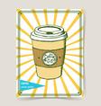 Sketch take away coffee vector image