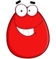 Smiling Egg Cartoon Character vector image