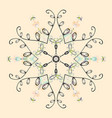 snowflake icon colored background color weather vector image