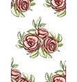 Vintage Roses Seamless Pattern Background vector image
