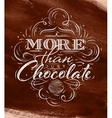 Poster chocolate brown vector image