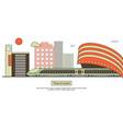 suburban or metro train station flat design vector image