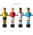Table football foosball players Group F vector image