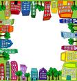 Cityscape square tile vector image