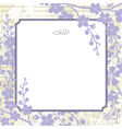 vector lilac blossom background vector image