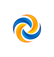 circle abstract technology color logo vector image