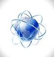 modern global networks isolate white background vector image