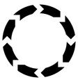 Circulation Flat Icon vector image