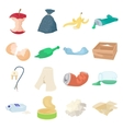 Garbage set icons vector image