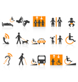 Accessibility icons set vector image