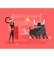 Bullfighting charcter man vector image
