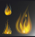 fire flame hot burn icon warm danger and vector image