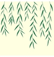 green branch background vector illustration vector image