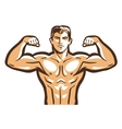 gym logo bodybuilder bodybuilding or vector image
