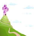 purple castle on the hill vector image