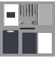 Corporate identity design Empty elements template vector image